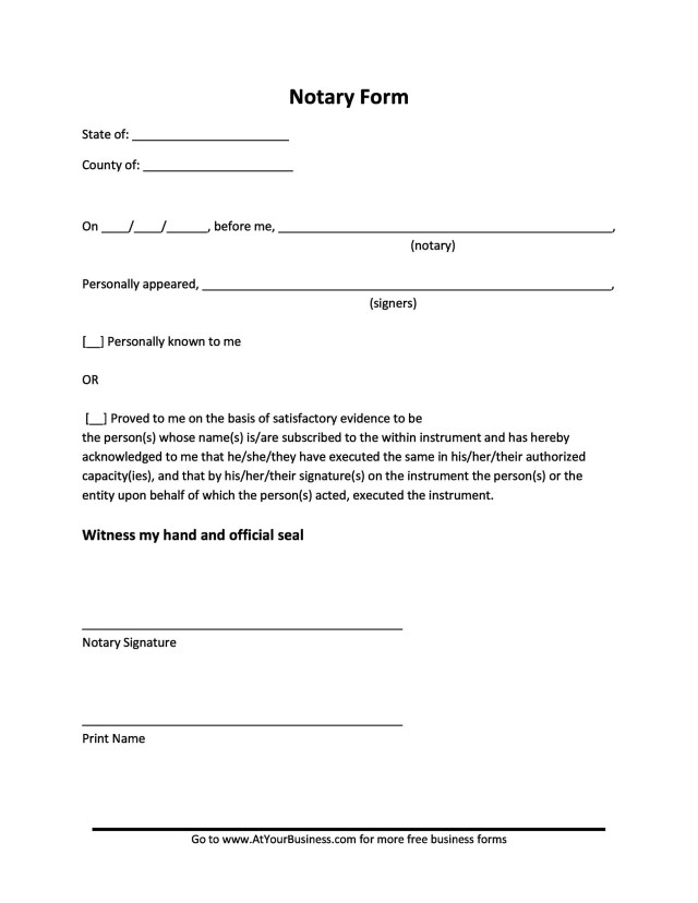 27+ Professional Notarized Letter Templates ᐅ TemplateLab