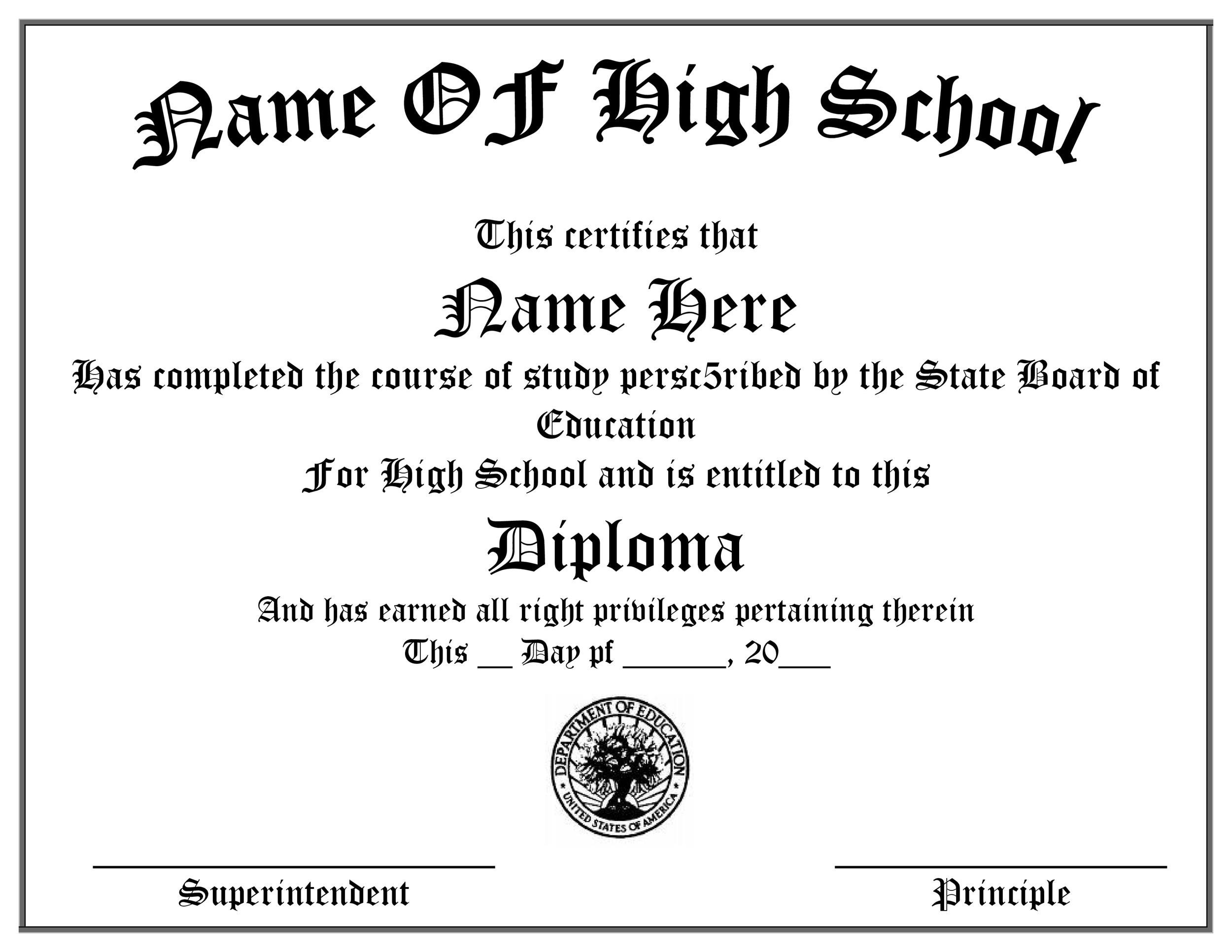 30 Real Amp Fake Diploma Templates High School College