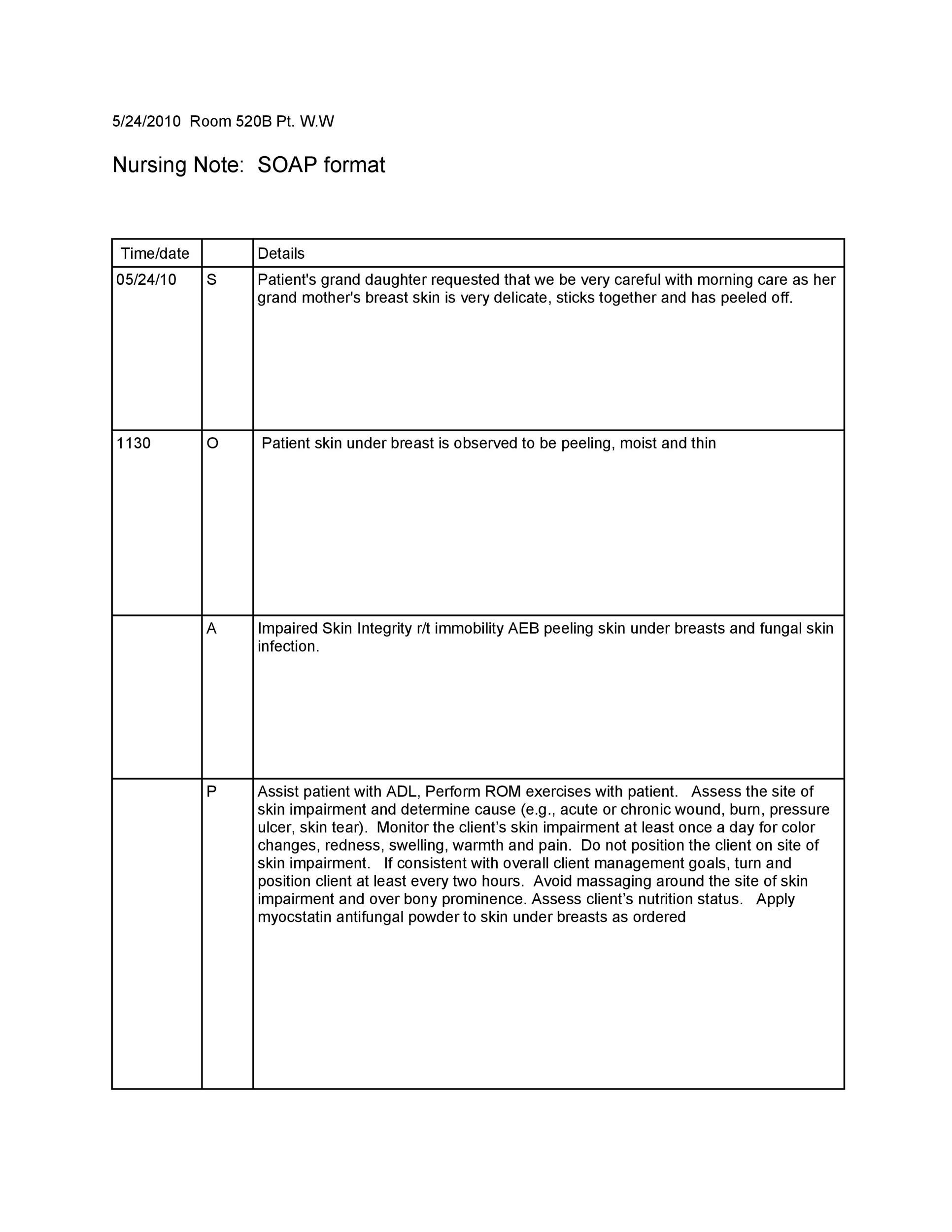 40 Fantastic Soap Note Examples Amp Templates Templatelab
