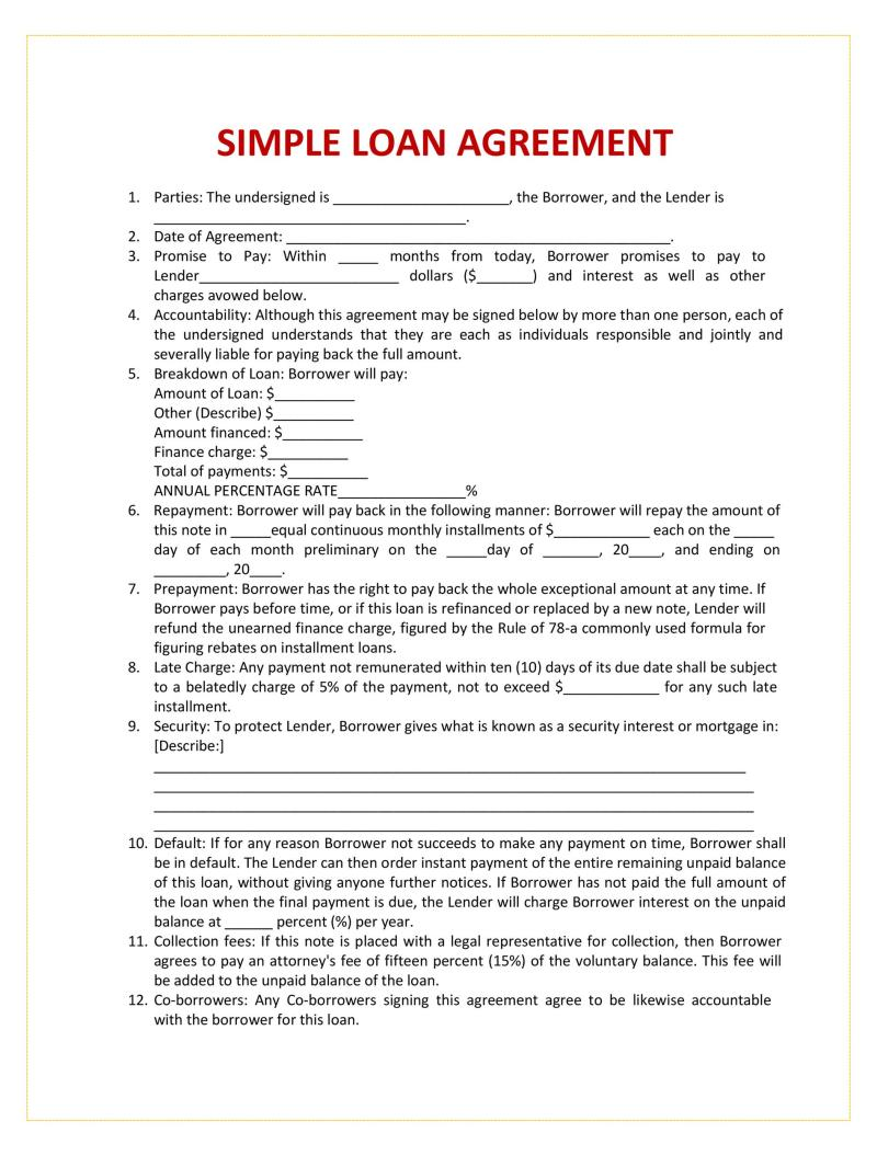 Sample Loan Agreement Letter Between Friends Uk Invisite