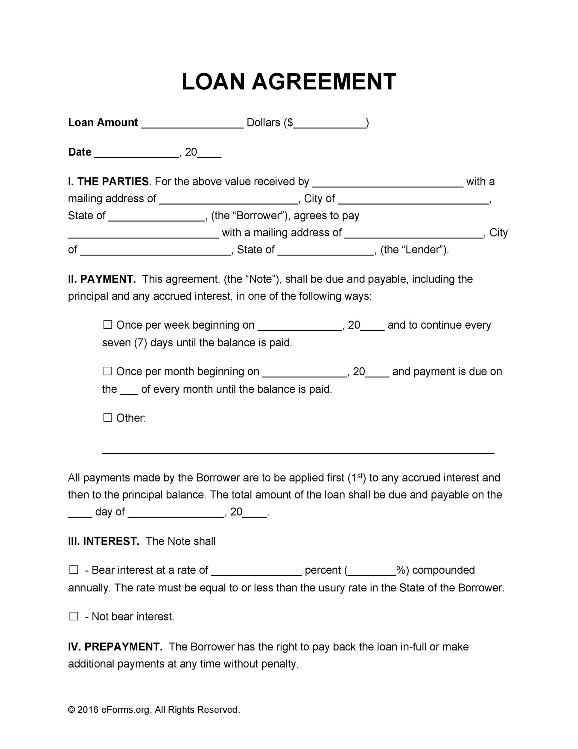 When borrowing money from or loaning money to family and friends,. 40 Free Loan Agreement Templates Word Pdf Á… Templatelab
