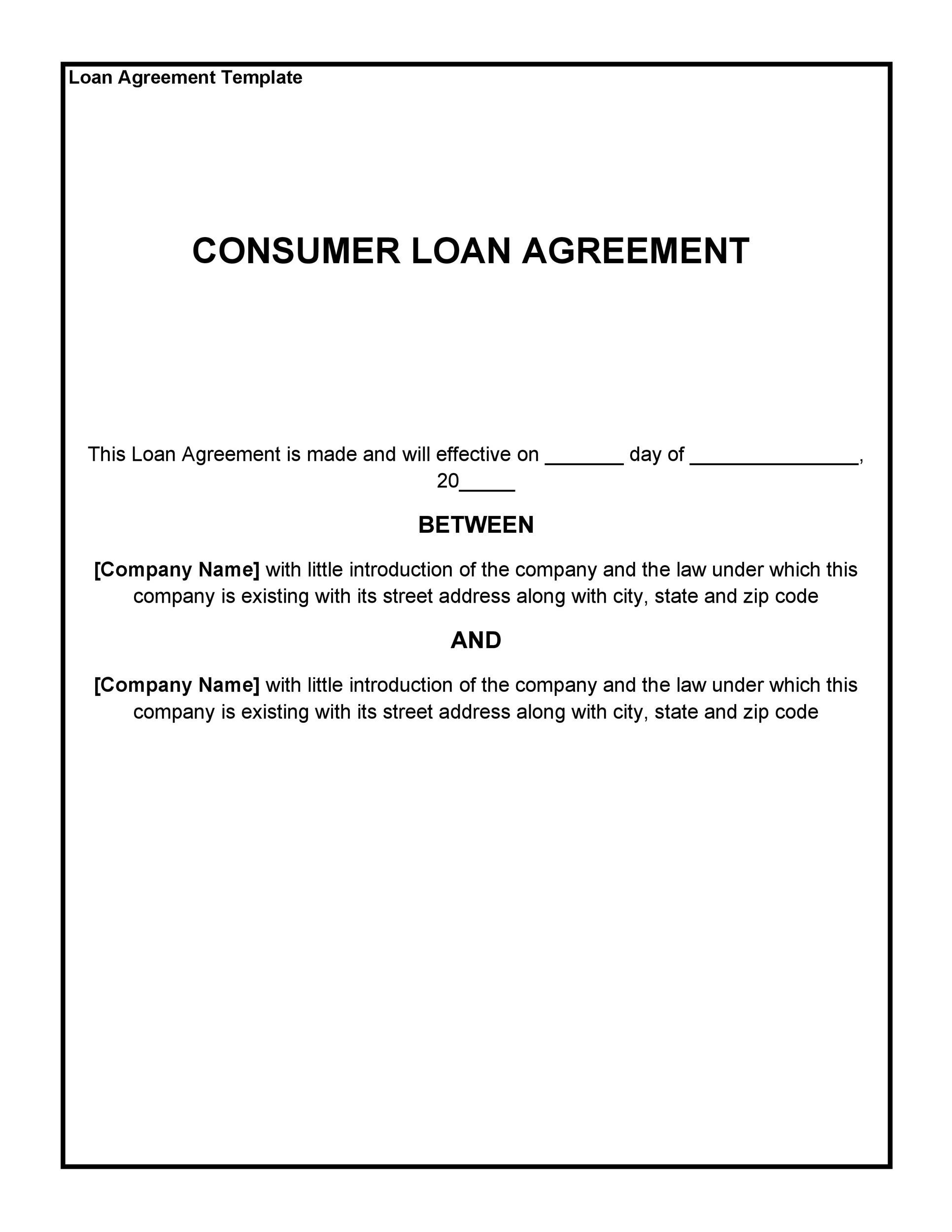 You can choose between monthly installments or a lump sum amount. 40 Free Loan Agreement Templates Word Pdf Á… Templatelab