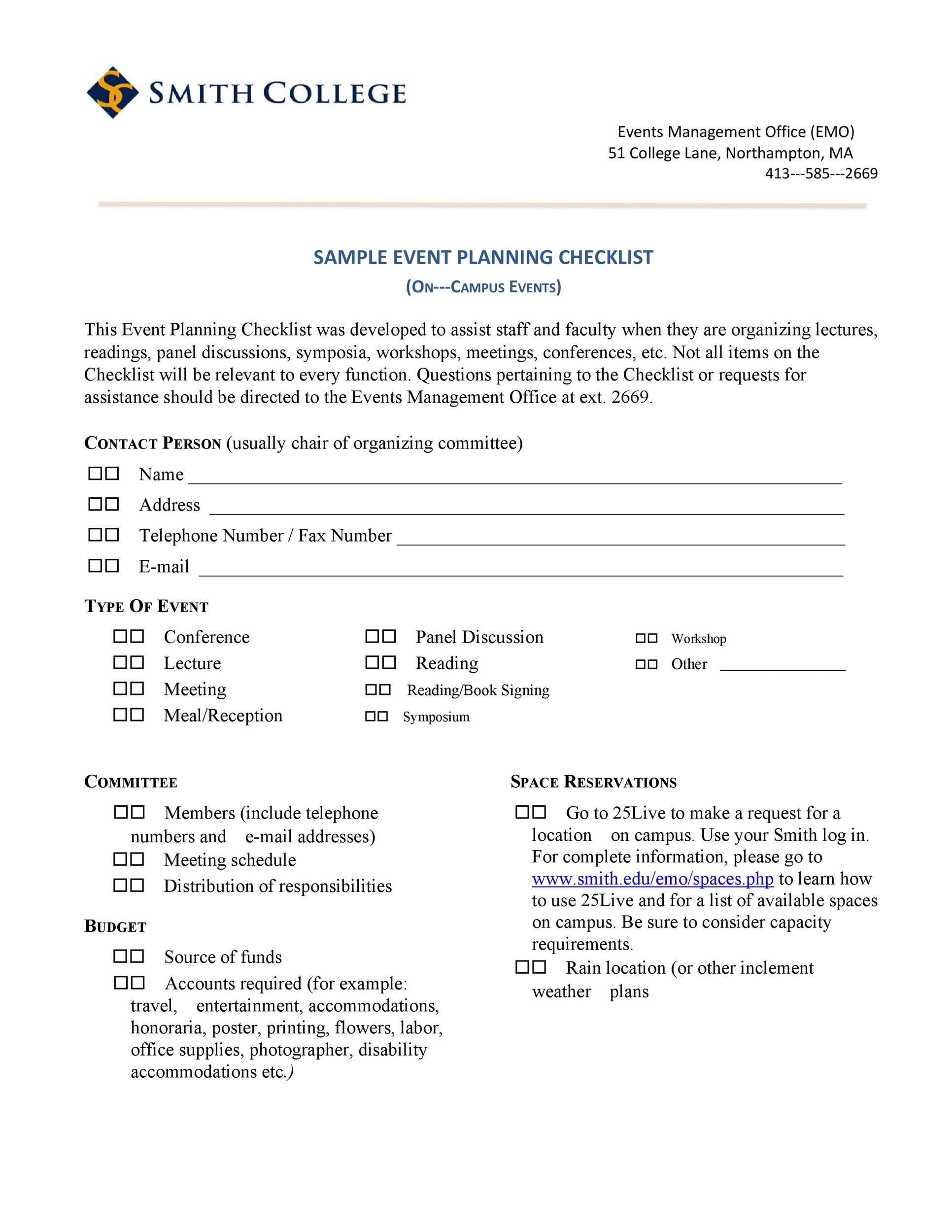 50 Professional Event Planning Checklist Templates