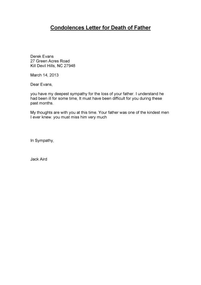 21 Condolence & Sympathy Letter Samples ᐅ TemplateLab