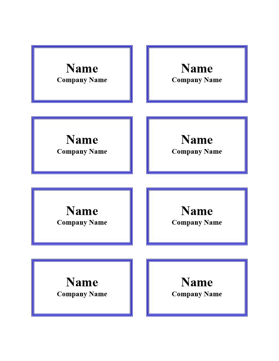 Free Name Tag Template Printable