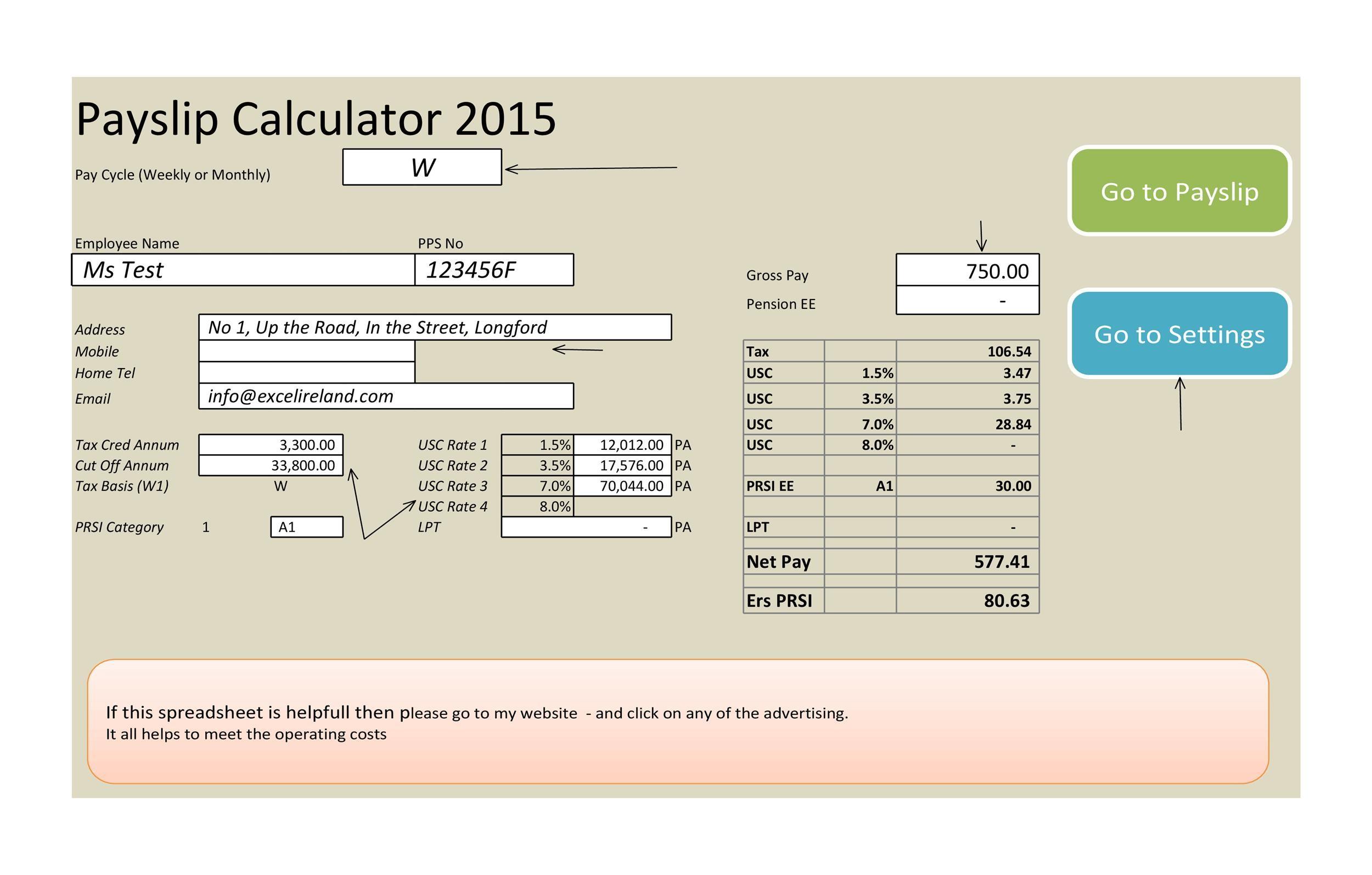 40 Free Payroll Templates Amp Calculators Templatelab