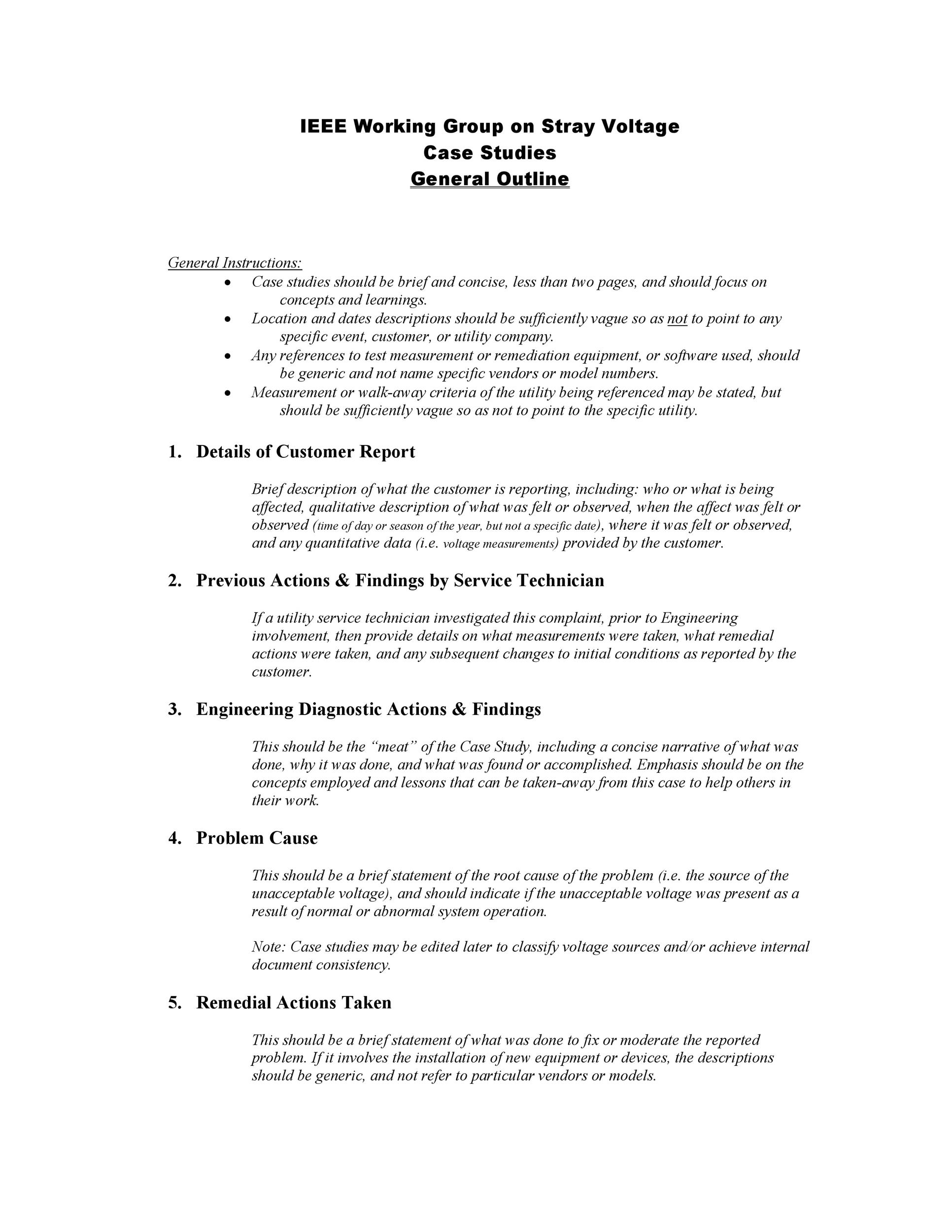 49 Free Case Study Templates Case Study Format
