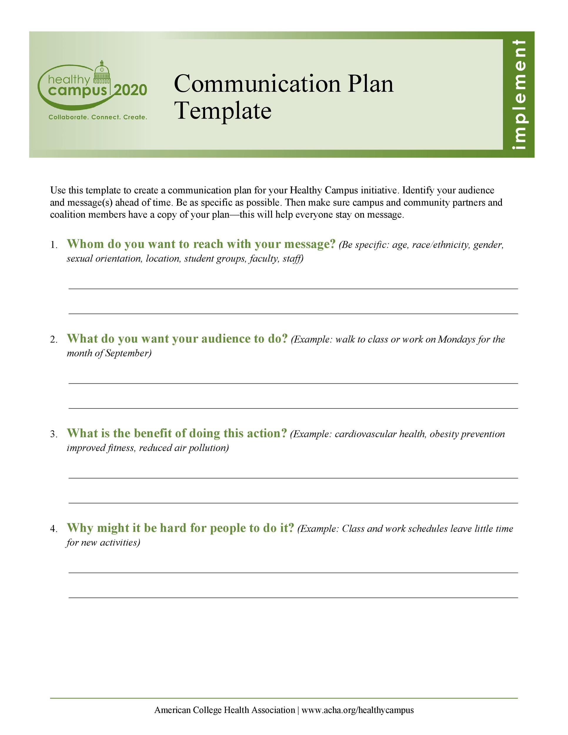 37 Simple Communication Plan Examples Free Templates
