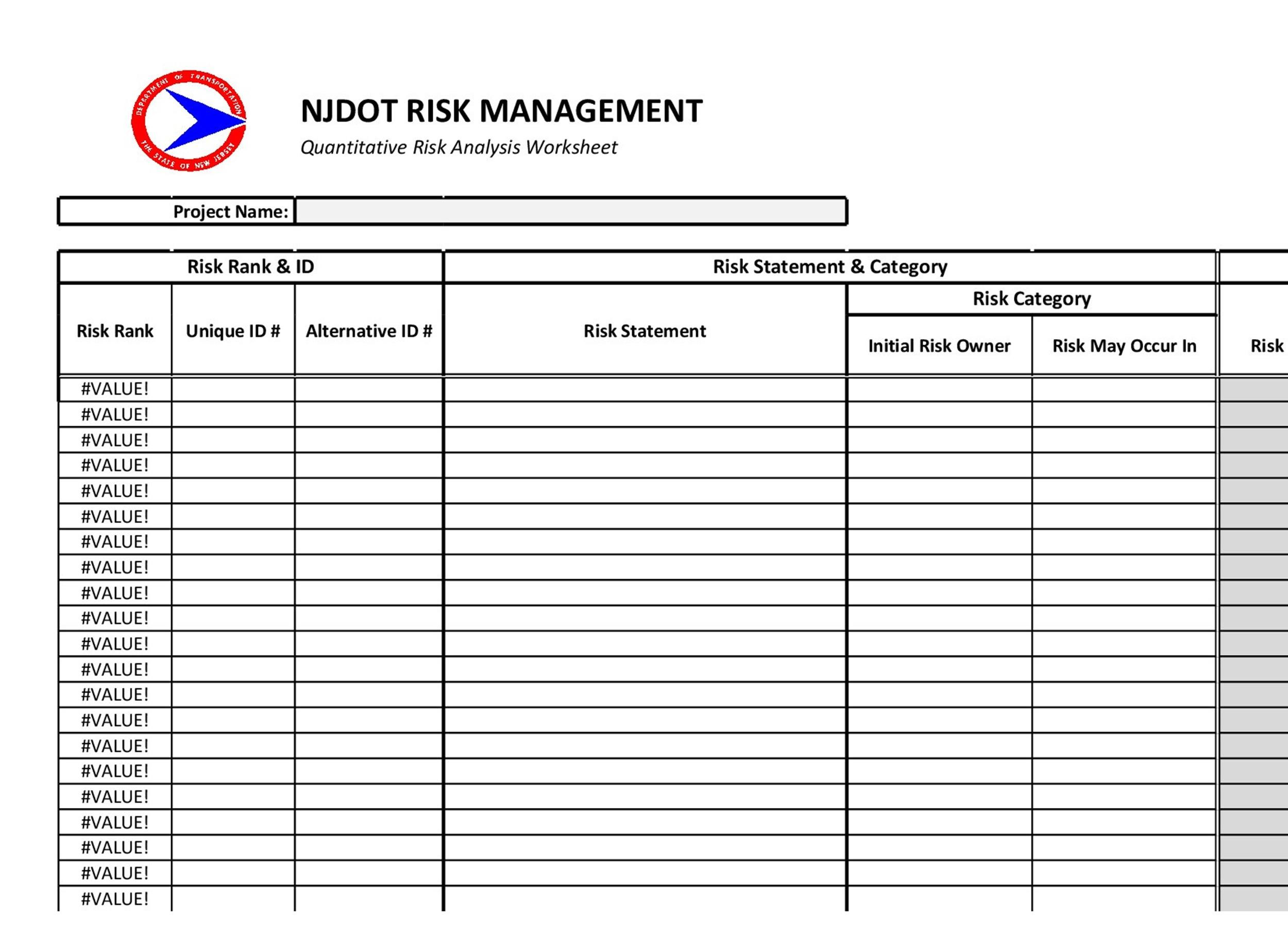 39 Free Riskysis Templates Risk Assessment Matrix