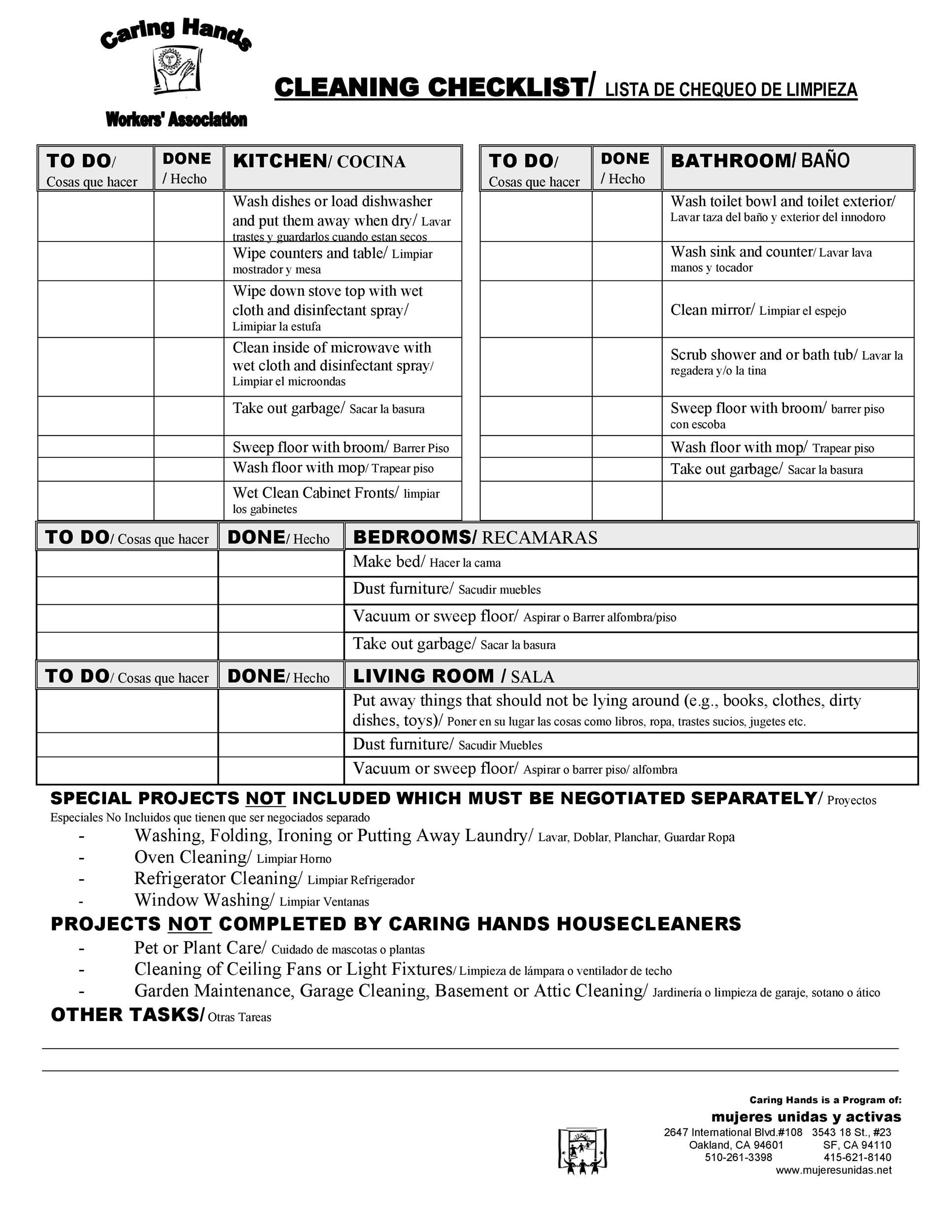 Sanitation Worksheet Template