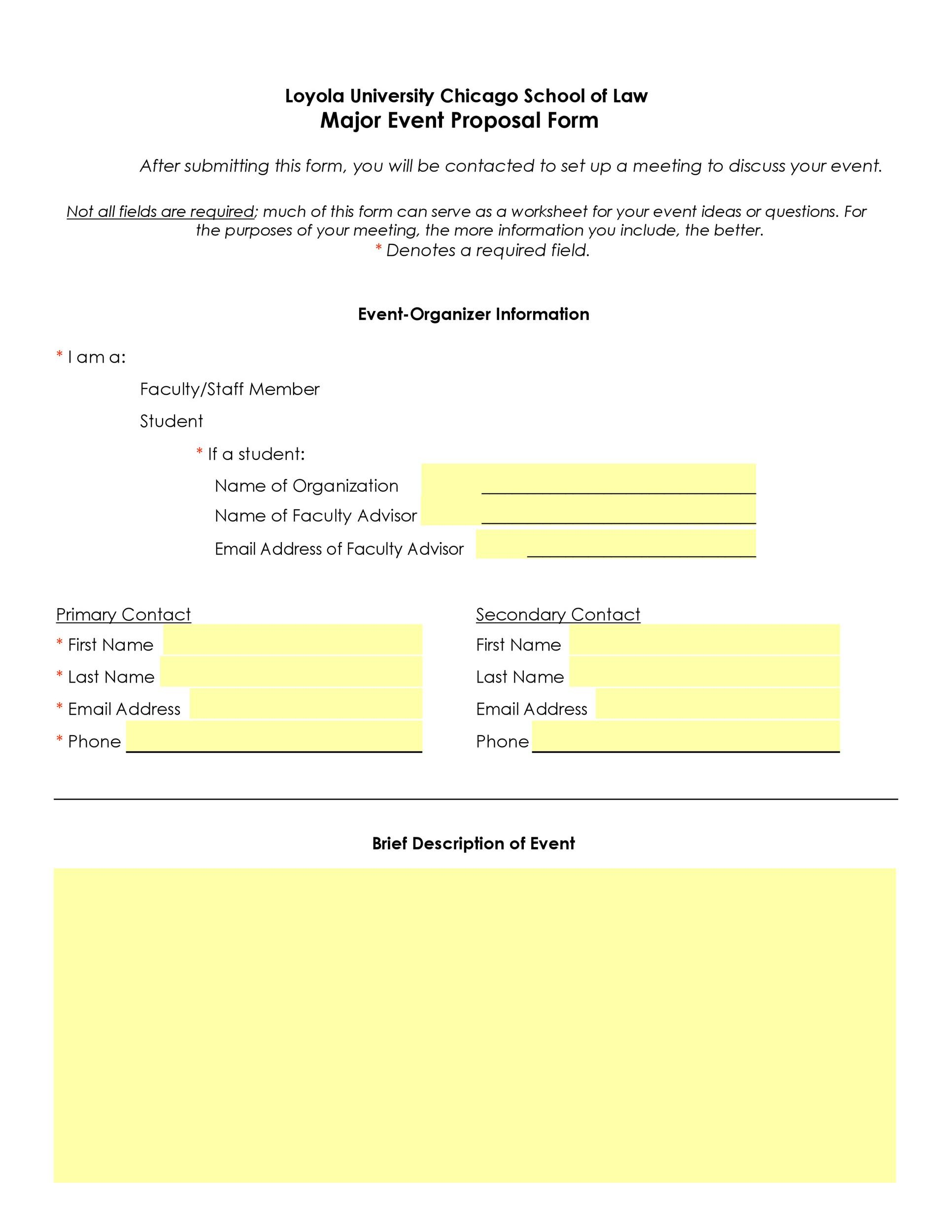 38 Best Event Proposal Templates Amp Free Examples Templatelab