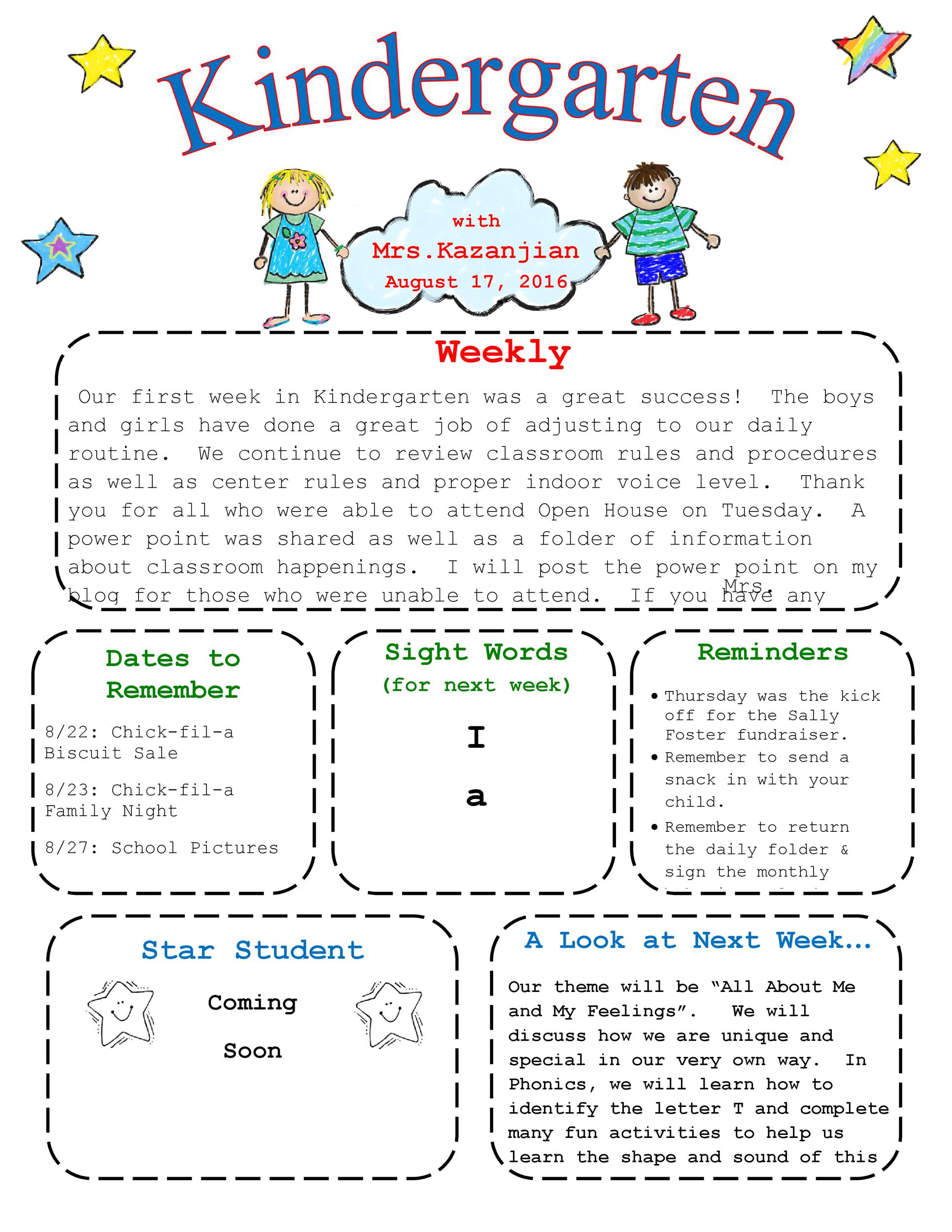 Free weekly and monthly staff newsletter templates for childcare centers. 50 Creative Preschool Newsletter Templates Tips Á… Templatelab