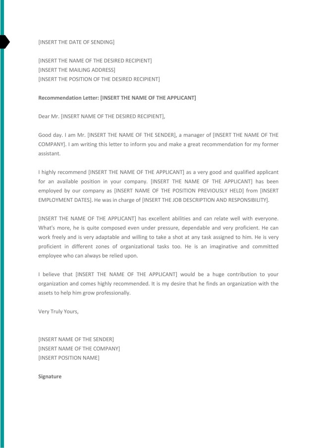 29 Best Recommendation Letters For Employee From Manager