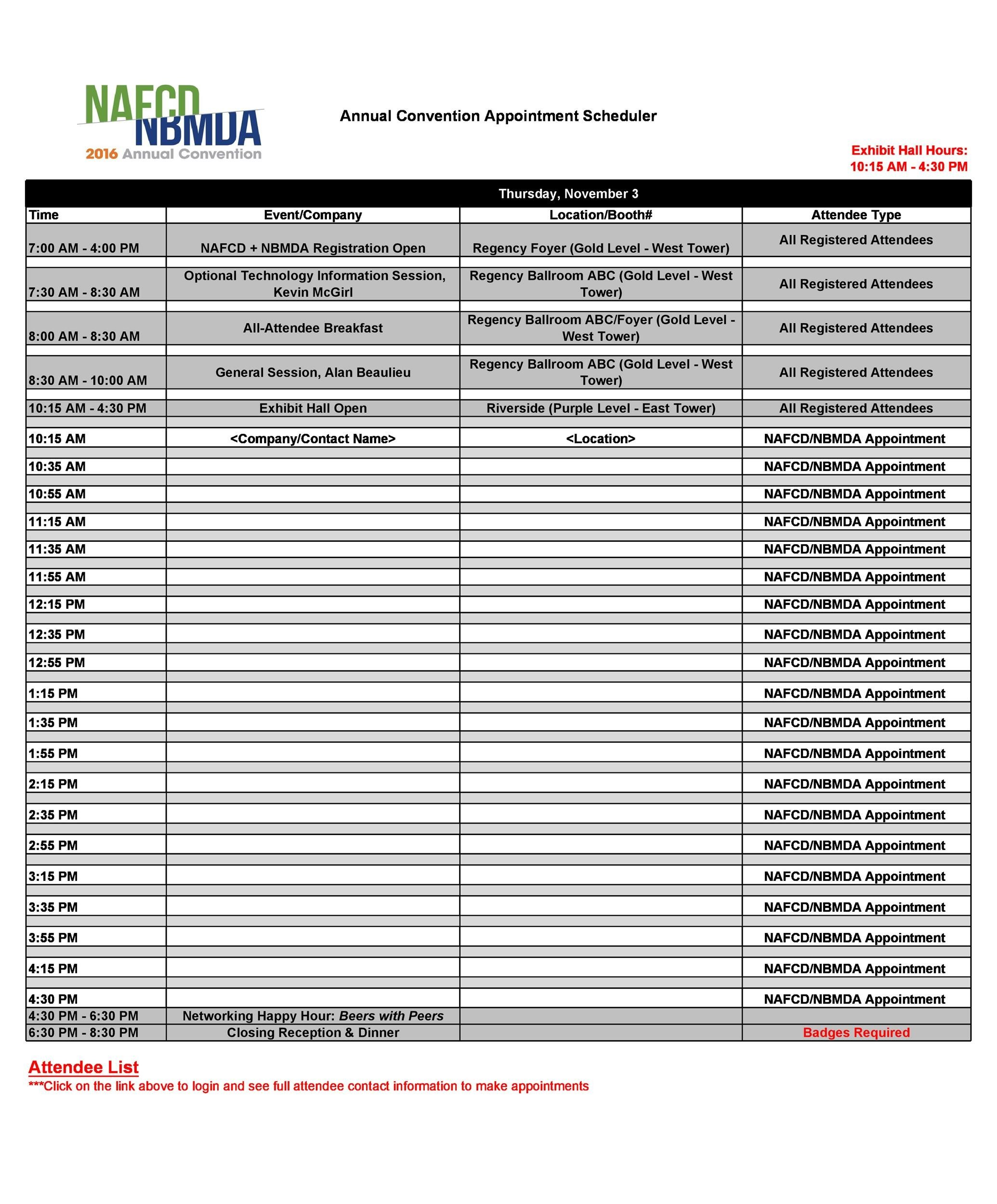 Ask physicians when they like to see certain appointment types. 45 Printable Appointment Schedule Templates Appointment Calendars