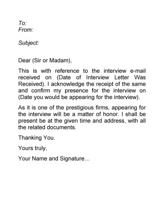 How to Accept an Interview in a Letter