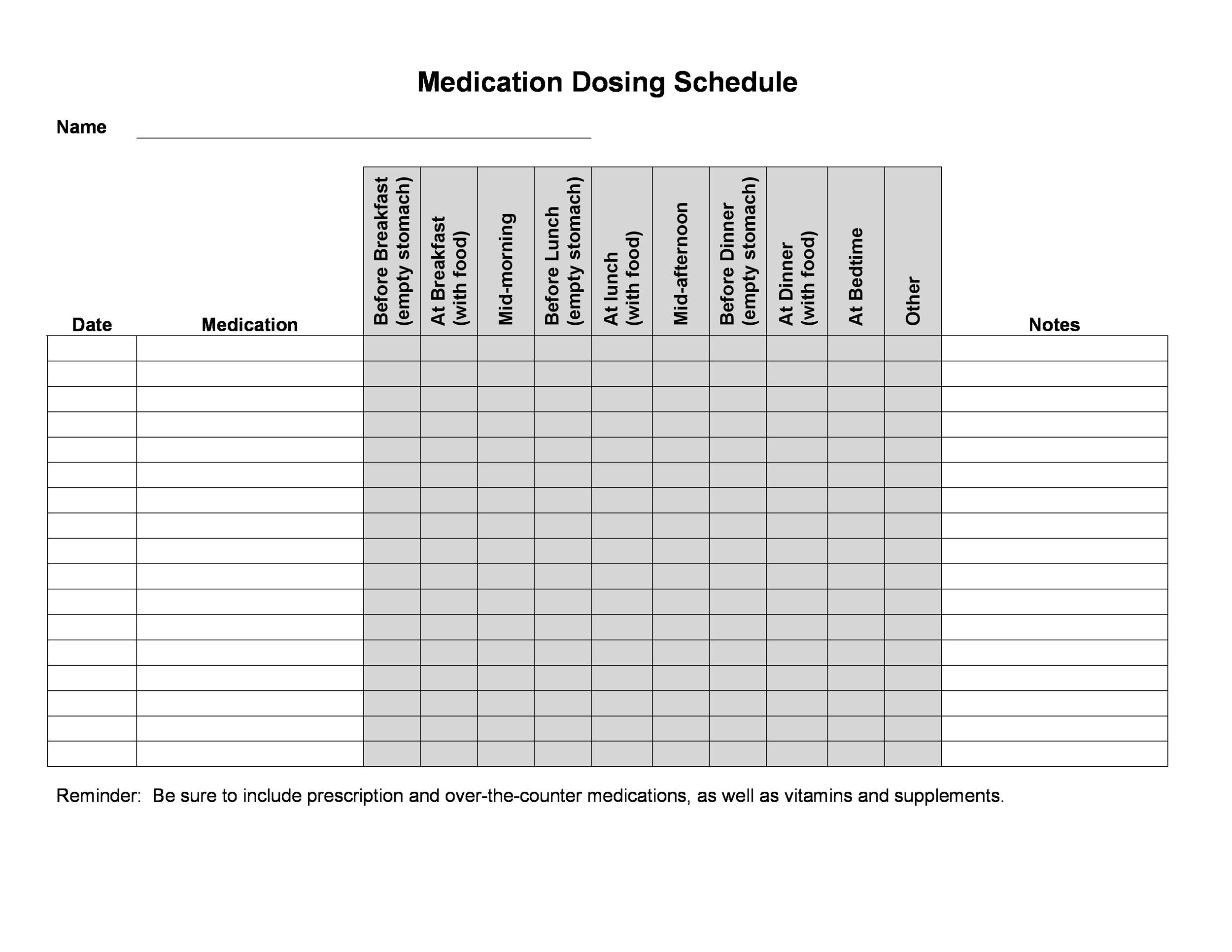 Personal Medication List Template For Your Needs