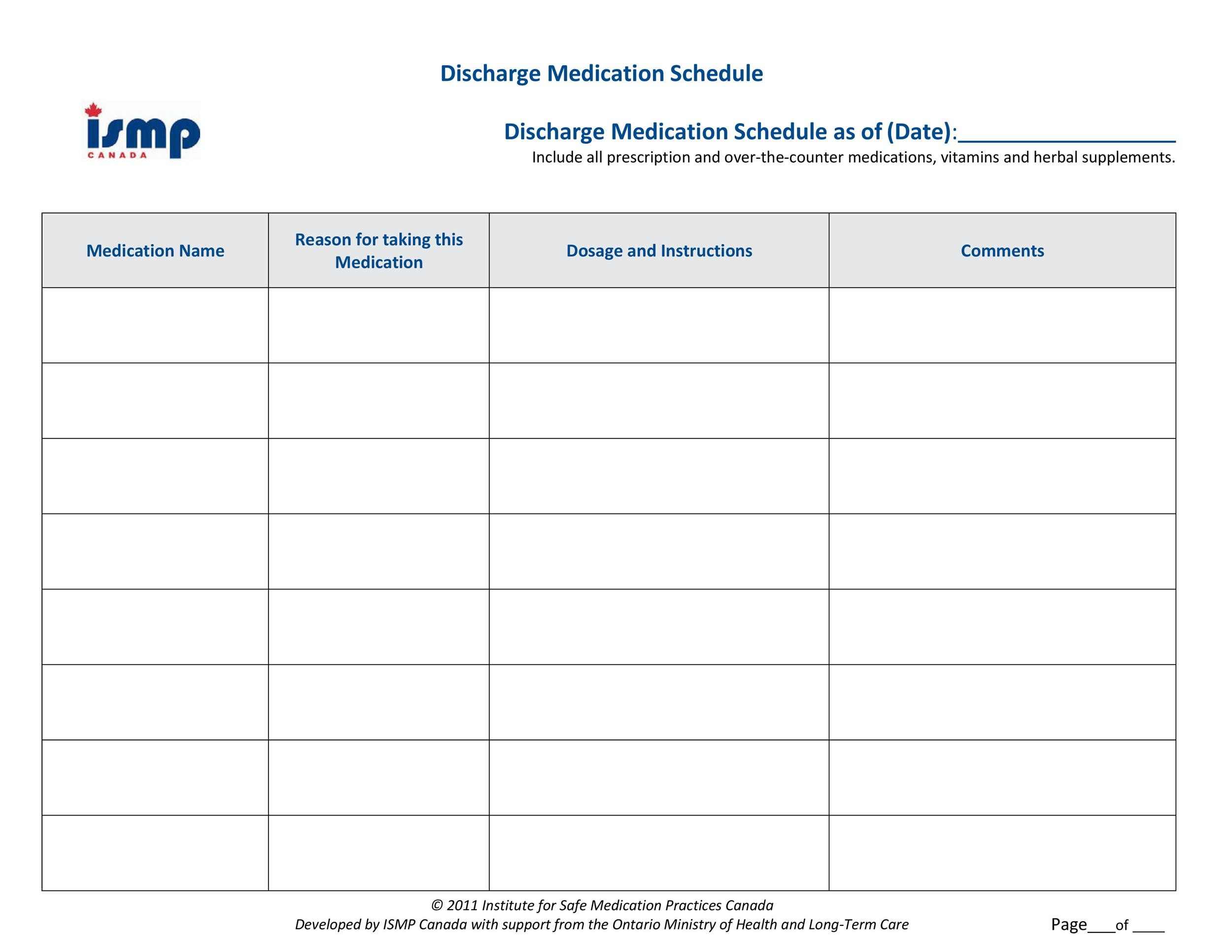 40 Great Medication Schedule Templates Medication Calendars
