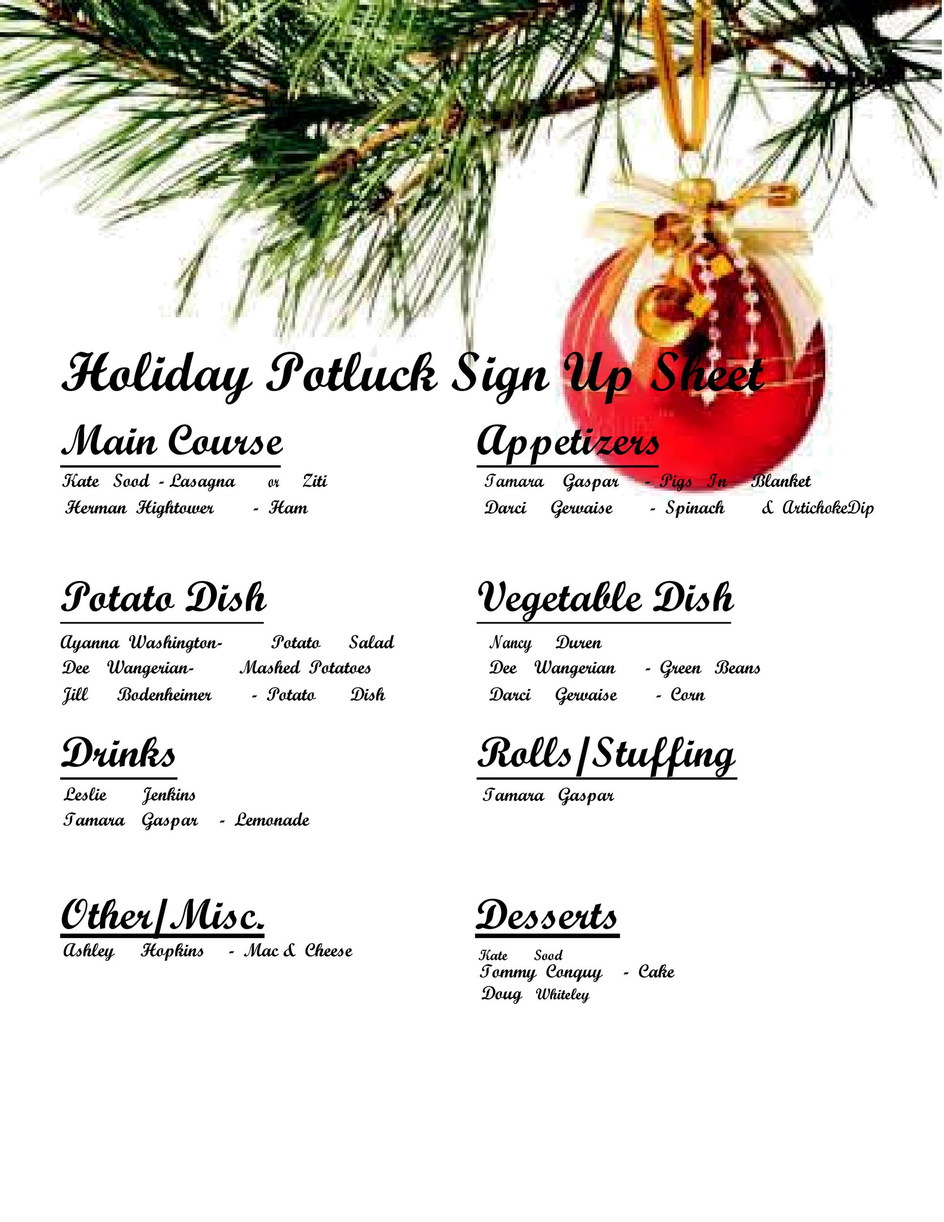38 Best Potluck Sign Up Sheets For Any Occasion