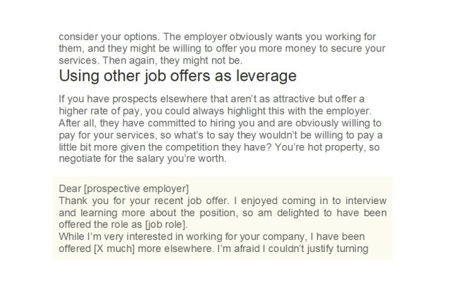 49 Best Salary Negotiation Letters