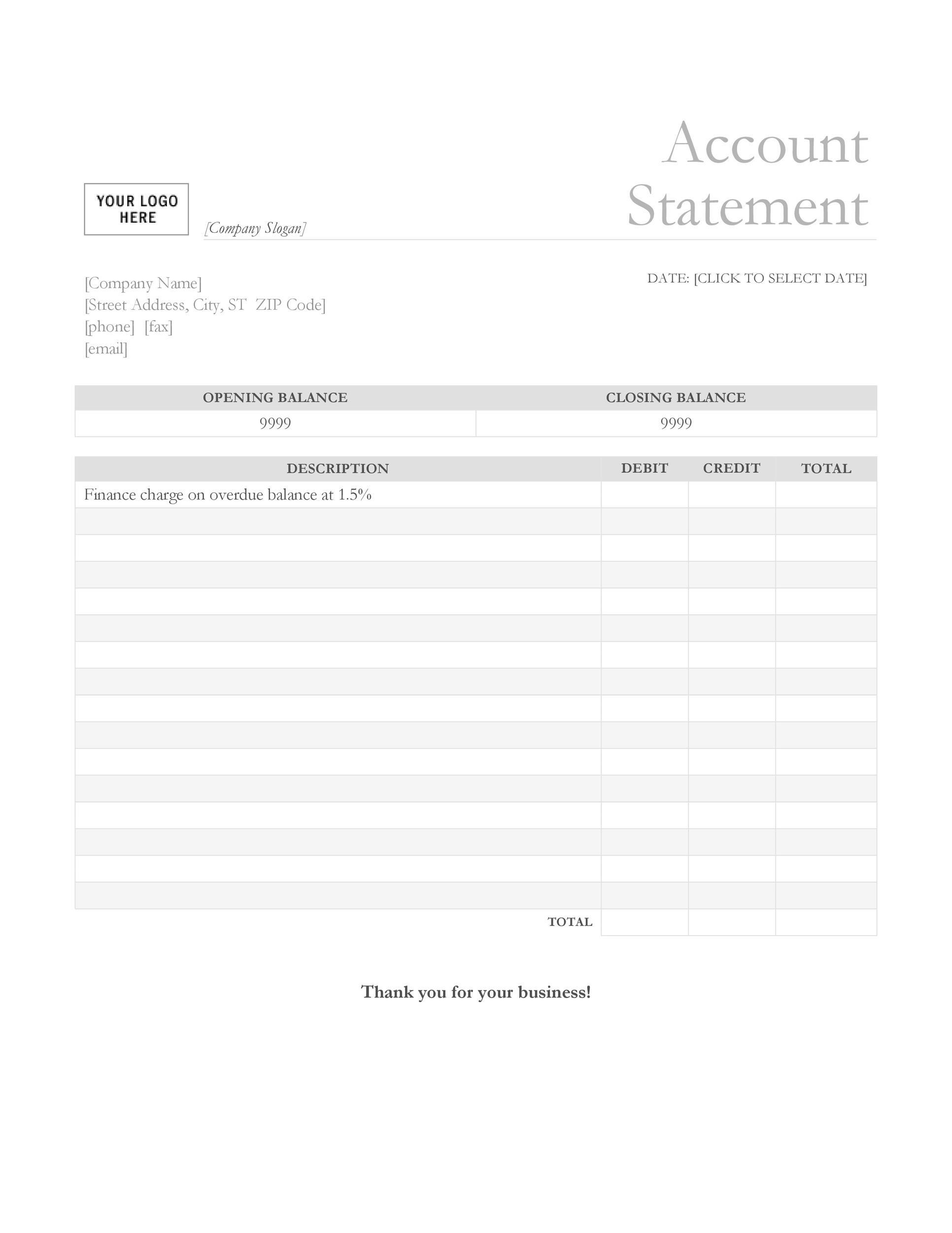 23 Editable Bank Statement Templates Free Templatelab