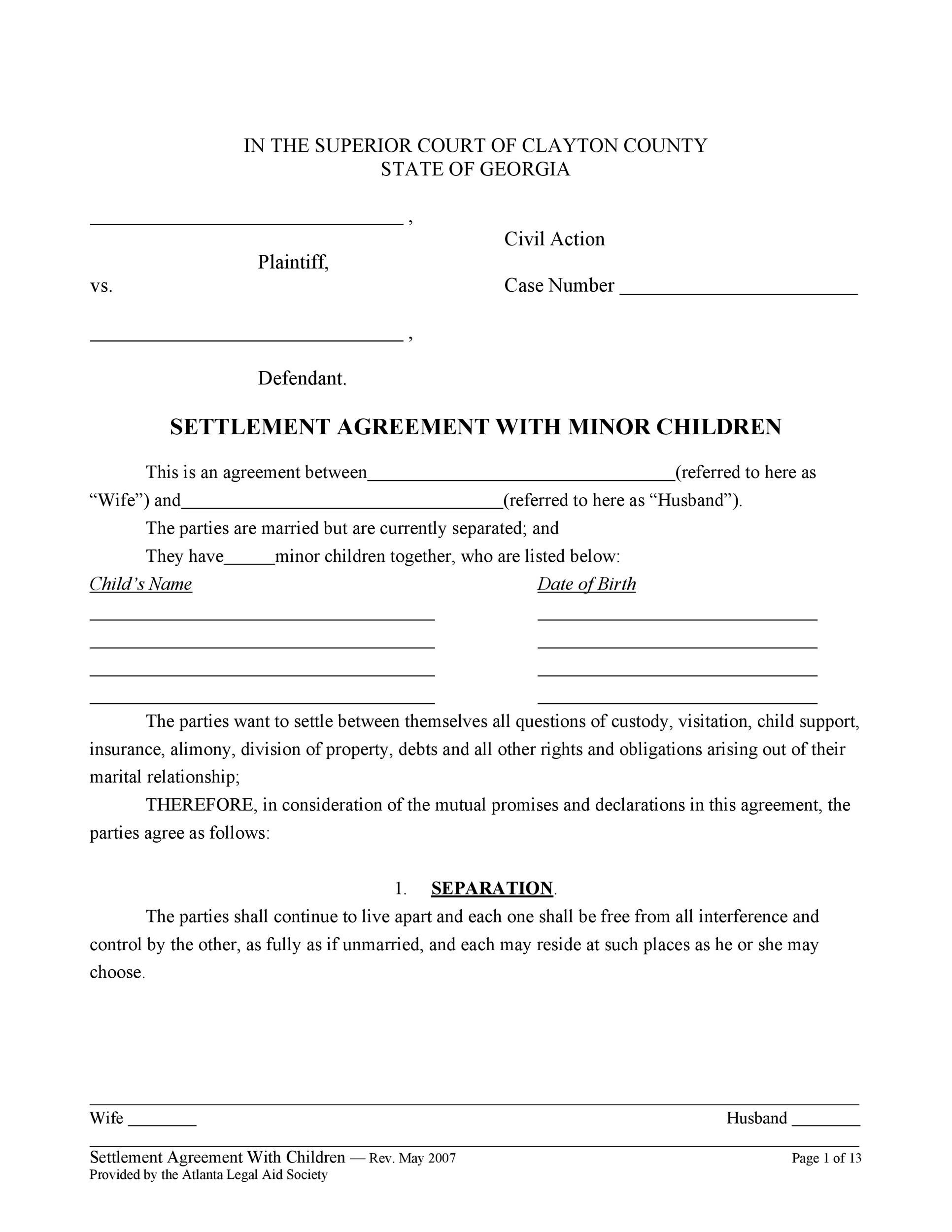 32 Free Child Support Agreement Templates Amp Ms Word