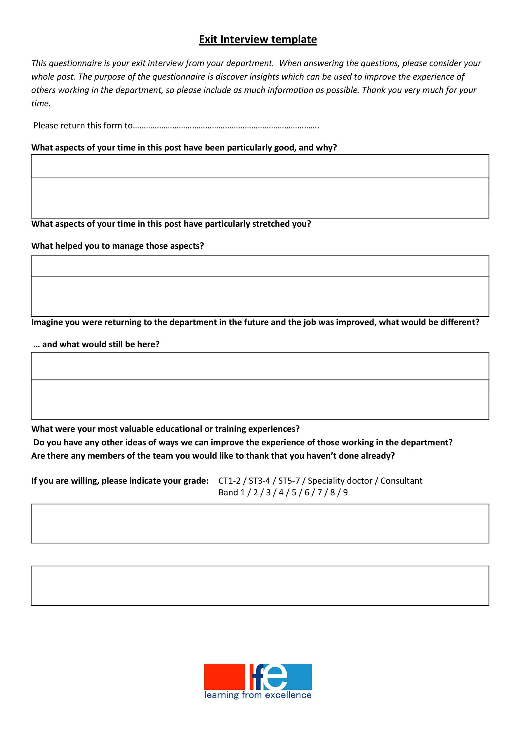 40 Best Exit Interview Templates Amp Forms Templatelab