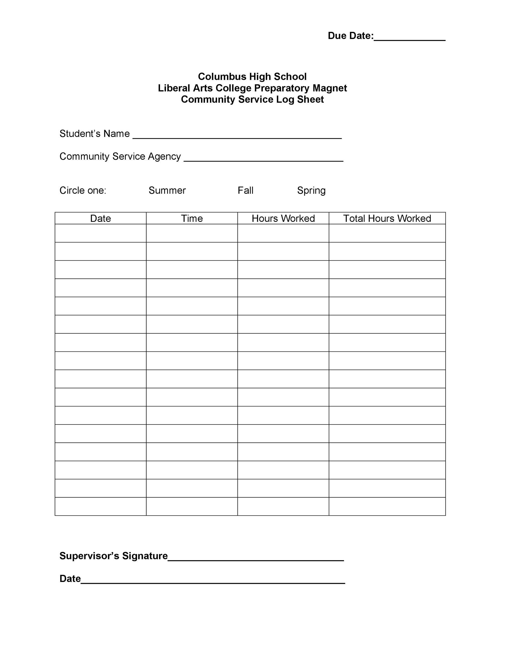 50 Printable Log Sheet Templates Direct Download