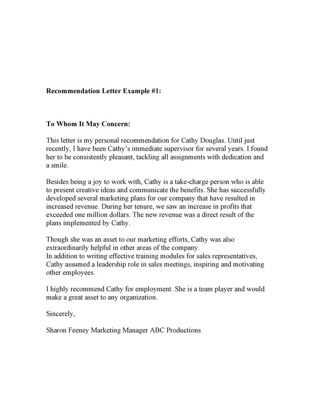 Business Letter Format To Whom It May Concern