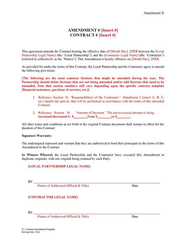 29 Professional Contract Amendment Templates & Samples ᐅ TemplateLab
