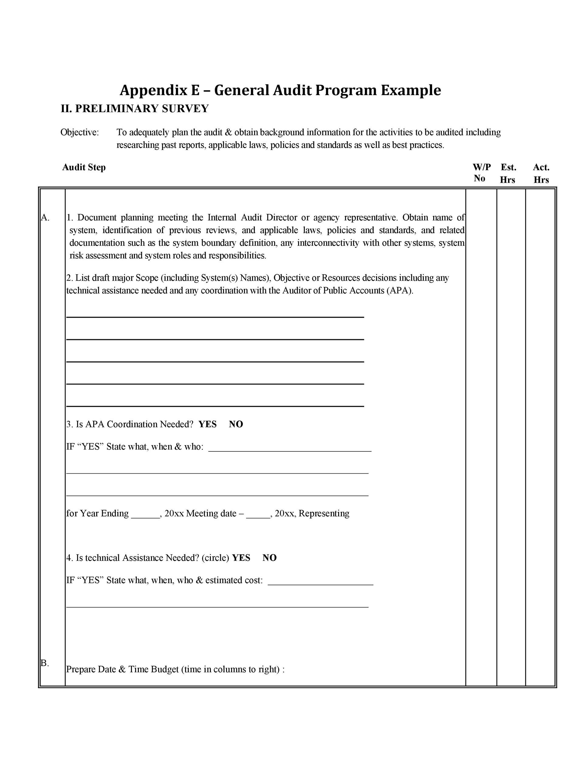 Sample Example Amp Format Templates Internal Audit
