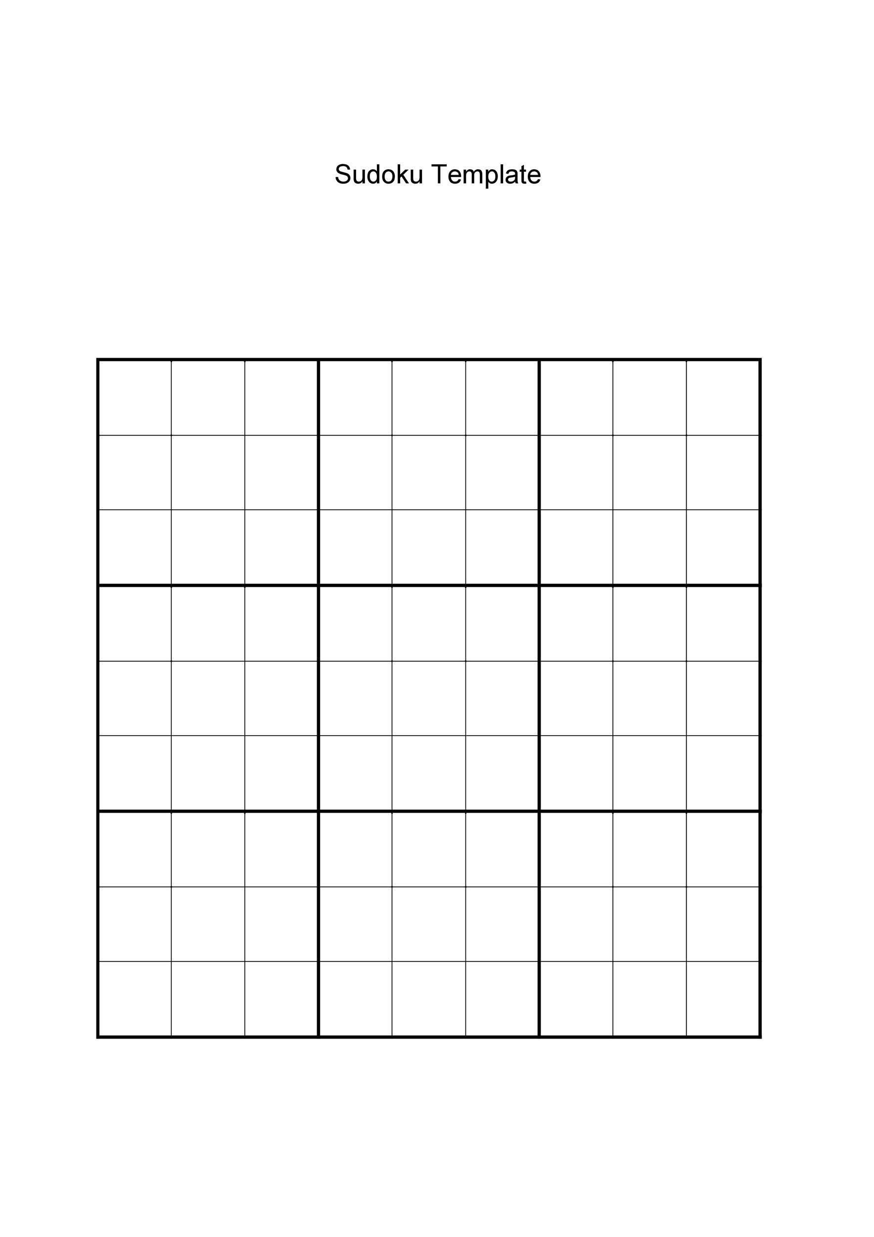 Top Sudoku Printable Grids