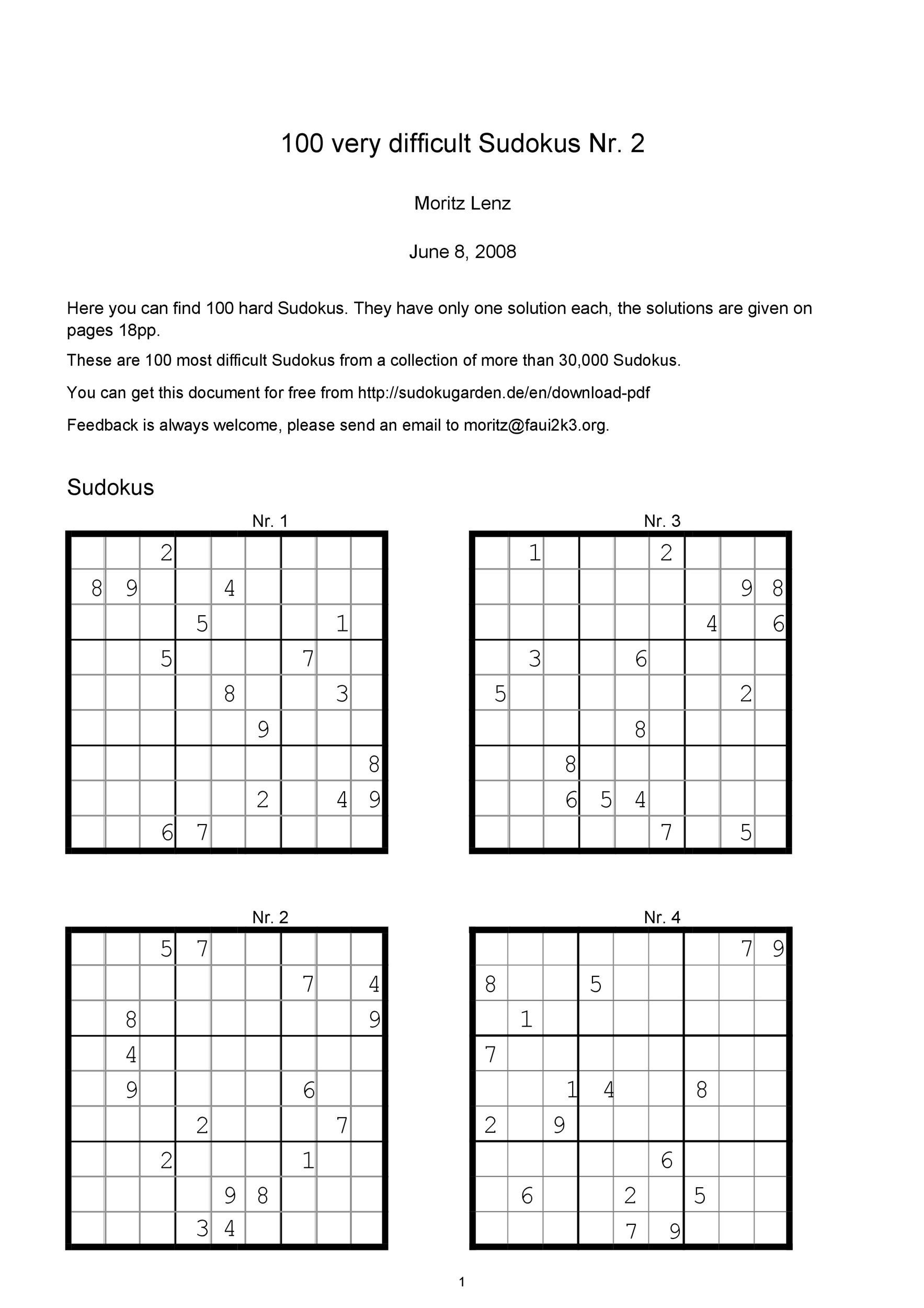 Eloquent Printable Sudoku