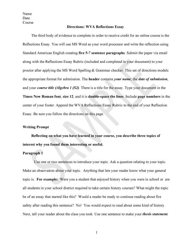 12 Best Reflective Essay Examples (+Topic Samples) ᐅ TemplateLab