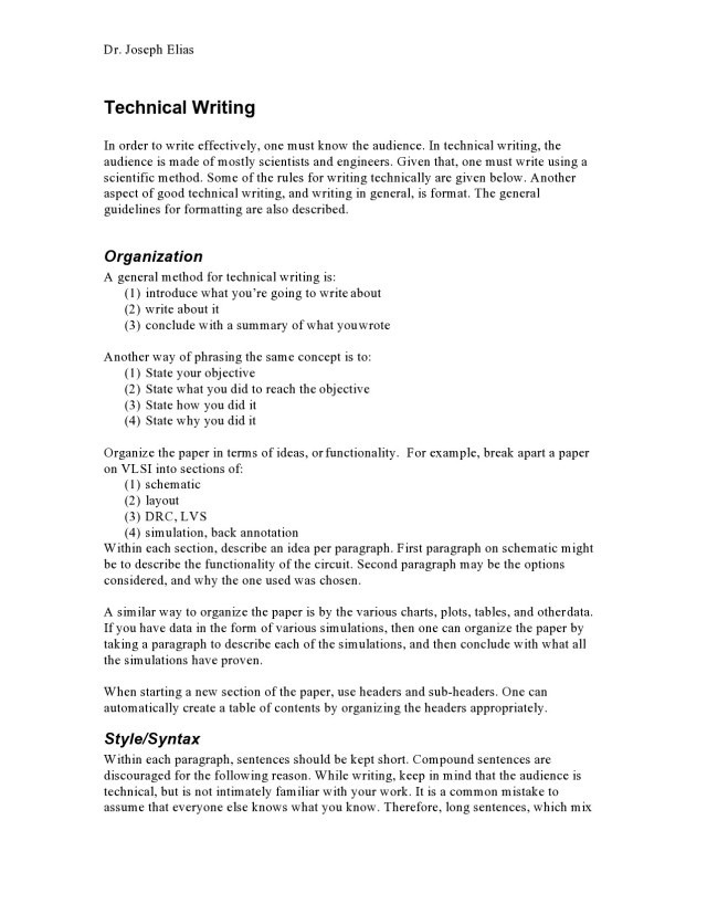 25 Good Technical Writing Examples (Word & PDF) ᐅ TemplateLab