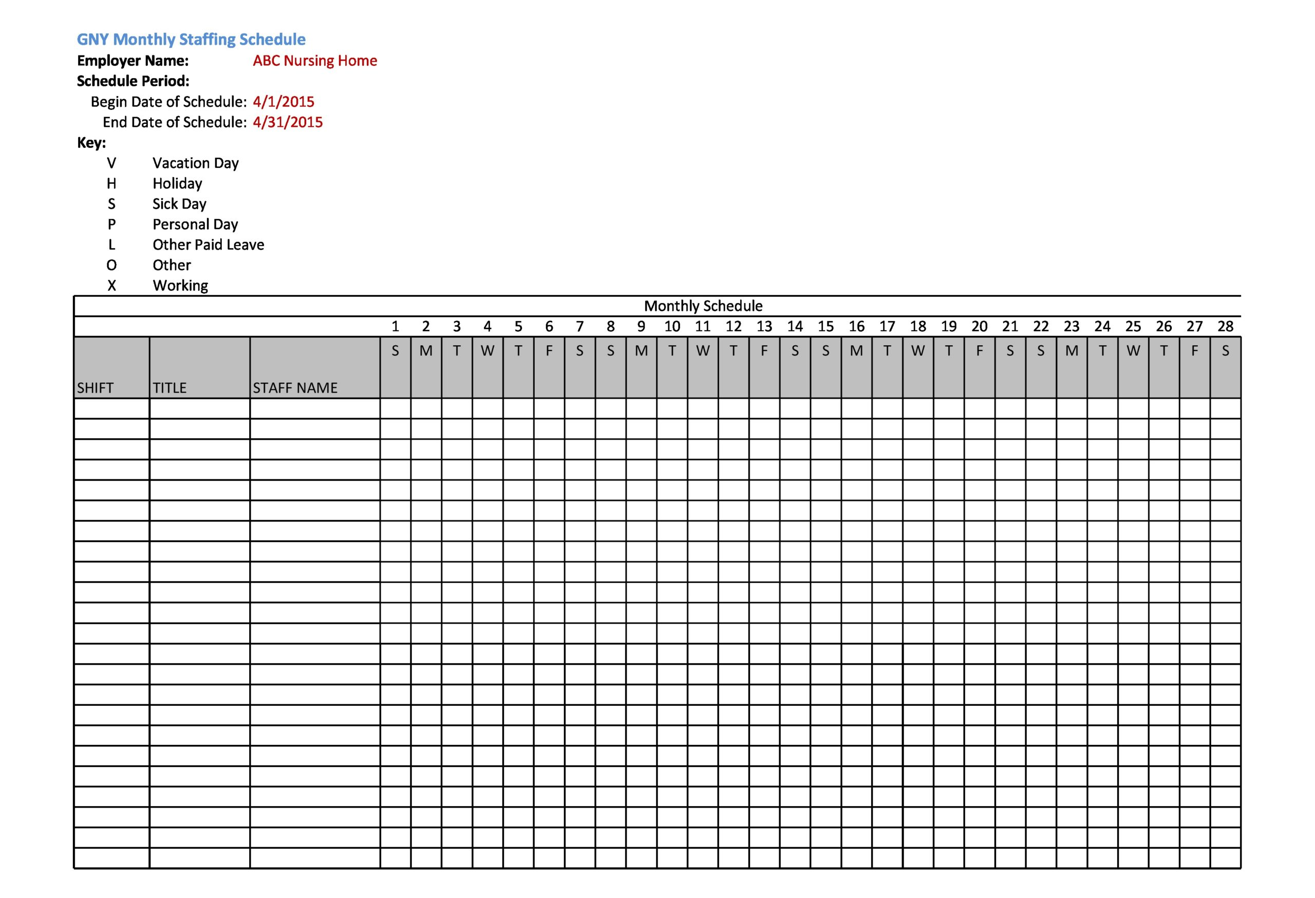 It then counts the number of employees working for each day. 40 Free Employee Schedule Templates Excel Word Á… Templatelab