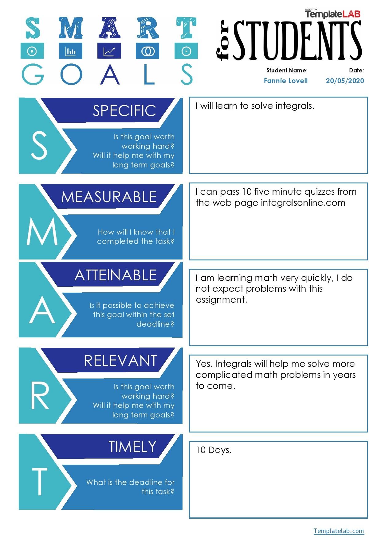 45 Smart Goals Templates Examples Amp Worksheets Templatelab
