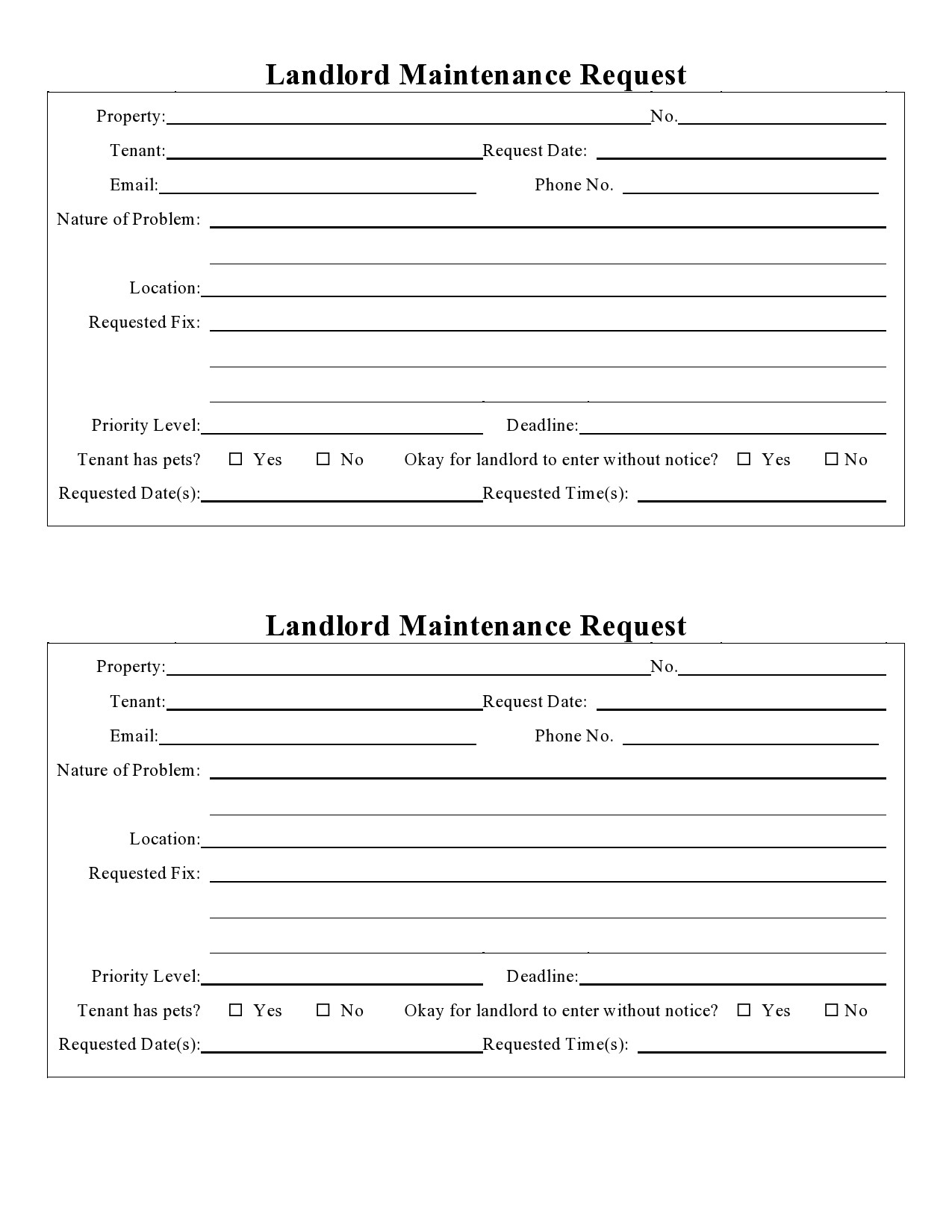 No more email back and forth, or messy paperwork. 54 Maintenance Request Form Templates Free Á… Templatelab