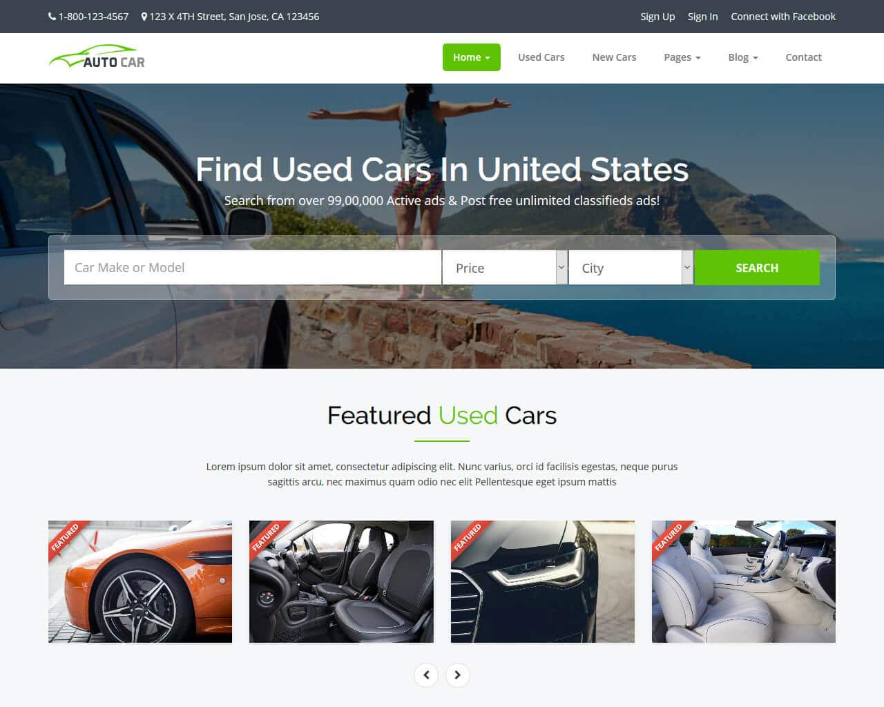 Car Repair Responsive Website Template Free Download