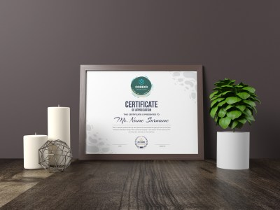 Athena Professional Landscape Certificate Template