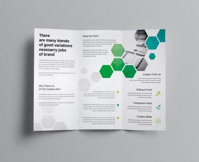Hexagon Corporate Tri-Fold Brochure Template