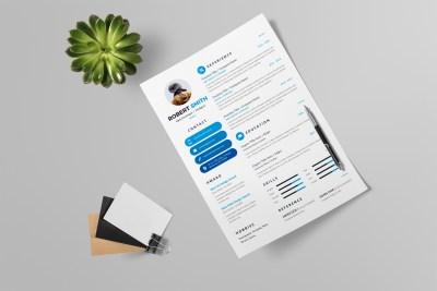 Clean Modern Resume Design Template