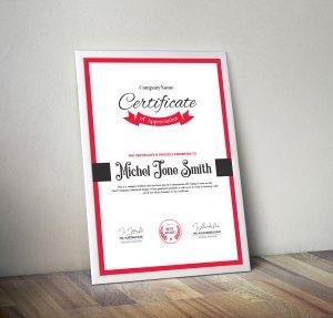 Excellent Certificate Design Template