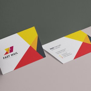 Fast Mail Visit Card Template