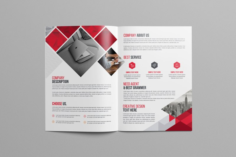 Print Bi-Fold Brochure Design