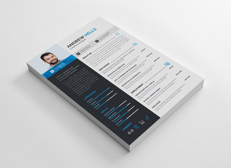 A4 Creative CV Template
