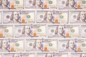 Cash money dollar banknotes stock photo