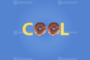 Word Cool made with delicious doughnut
