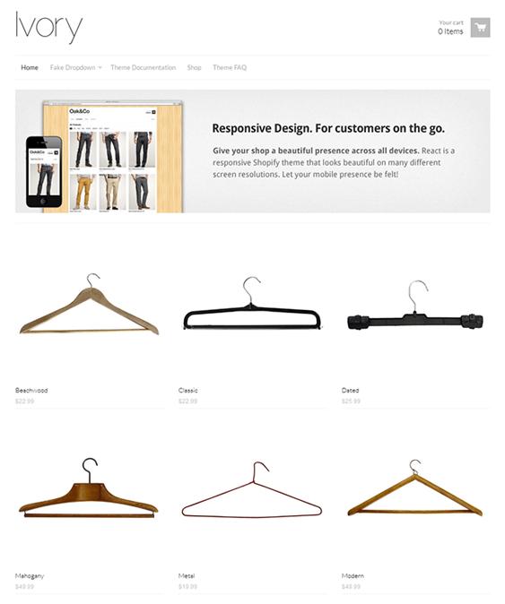 minimalist shopify theme