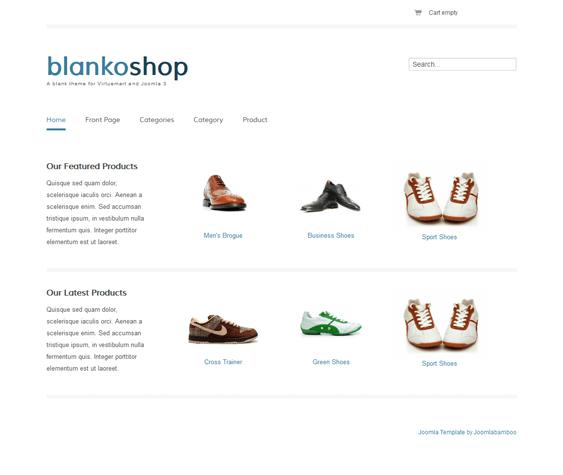 blankoshop responsive virtuemart templates