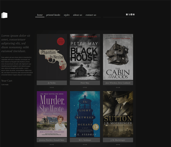bookstore responsive virtuemart templates